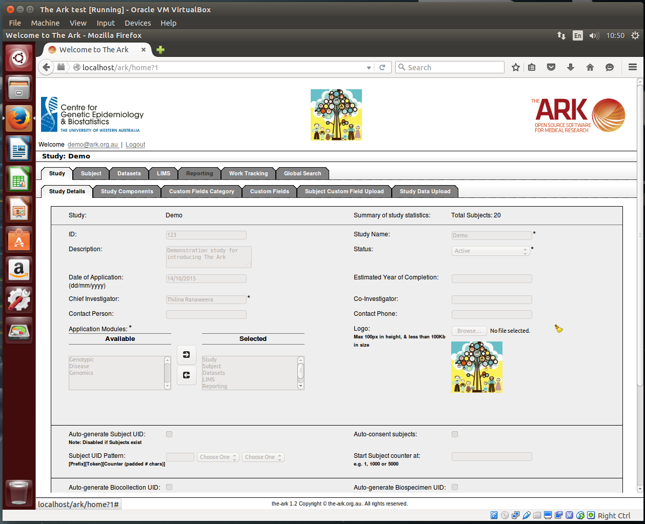 The Ark VirtualBox
